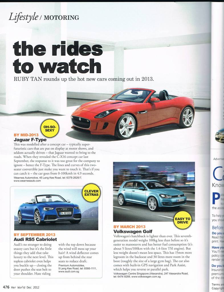 Cars to watch pg 1