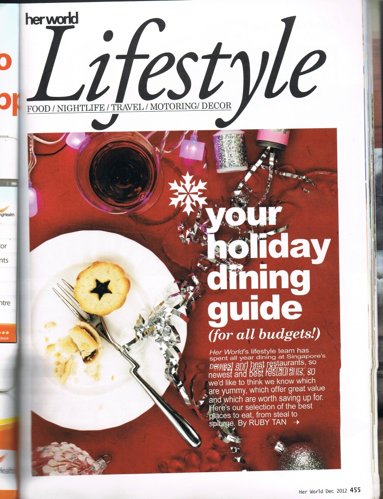 Holiday Dining Guide pg 1