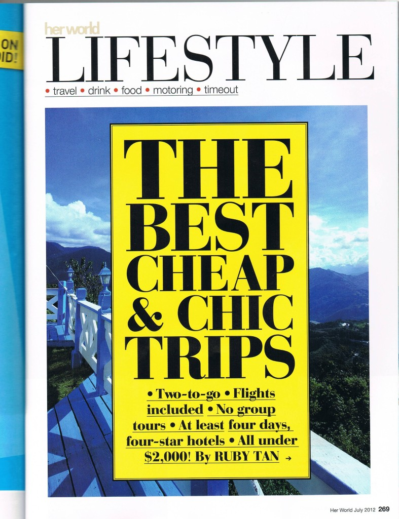 Lifestyle Best Chic&Cheap Trips Under $2000 pg 1